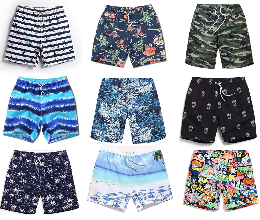 Mens   Board     Shorts   Summer New Beach   Shorts   Palm Leaf Surf Men Swim   Short   Plus Size Sports Sweat   Board     Shorts   Swimsuit A3