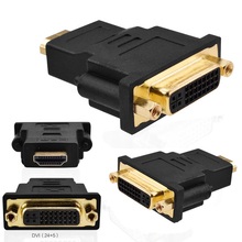 DVI to HDMI Adapter Converter DVI 24+5 Male to HDMI Female Converter for HDTV LCD PC Computer PS3 PS4 TV BOX 30cm hdmi to dvi 24 5 adapter cable black m f hdmi male to dvi female video adapter cord for pc hdtv lcd dvd mayitr