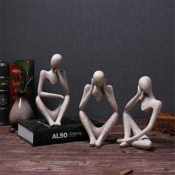 Estatua de carácter abstracto accesorios de decoración del hogar creativo ornamento del hogar sala de dibujo Oficina arenisca estatua decoración figurita