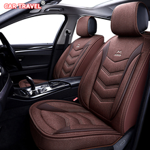 Car-Seat-Covers Cushion Duster Interior-Accessories Car Travel for Flax Dacia Sandero