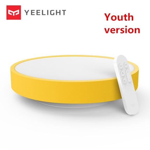 Оригинальный Xiaomi yeelight потолочный светильник молодежный вариант лампы IP60 пыле WI-FI и Bluetooth Беспроводной Smart App Дистанционное управление