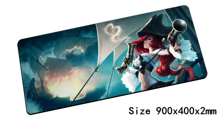Miss Fortune Mouse Pad 900x400mm Pad Mouse Lol Notbook Computer Mousepad Bounty Hunter Gaming Padmouse Gamer Laptop Mouse Mats