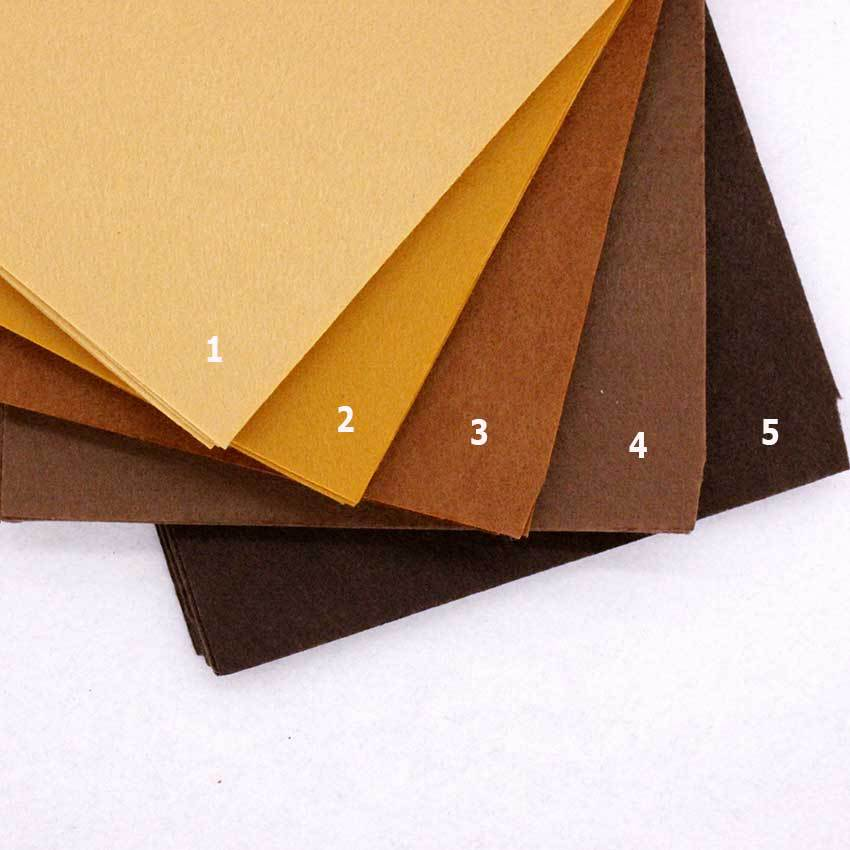 Pure Brown Color Chocolate Felt Cloth 1MM Felt Fabric Polyester Fabrics Needlework Diy Needle Sewing Handmade Fieltro Feltro