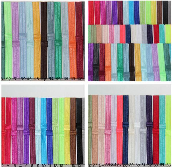 Elastic Headbands 55colors Free shipping 100cs/lot Shimmery  Elastic Headband with loop for baby and children adults women s hats and fascinators vintage sinamay sagittate feather fascinator with headband tocados sombreros bodas free shipping