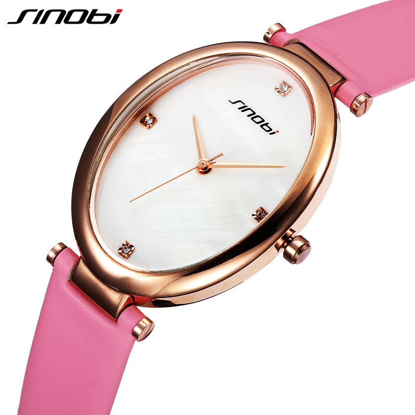 Sinobi Dress Watches Clock Girls Fashion Women Ladies Stylish Brand Oval Mujer Relojes