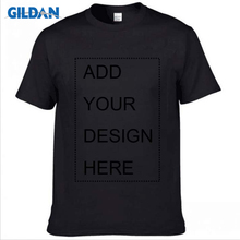 GILDAN Customized T-Shirt Men Short Sleeve Tshirts Solid 100% Cotton Homme Tee Shirt 3XL Summer Clothings Plus Size XS-5XL