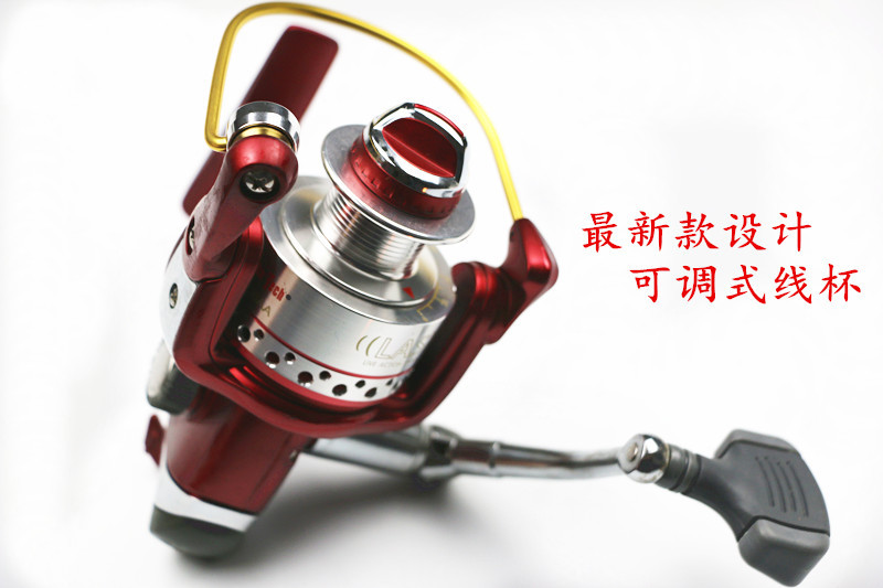 ФОТО 1pcs/pack special designing spinning wheel type 2000-5000 line wheel rotation spool cheap metal spinning reel fishing tackle