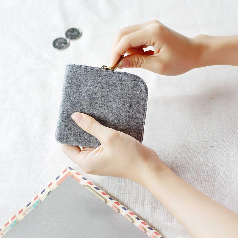 Novo 2019 unissex estudante bonito mini curto qualidade moeda carteira cartão chave mini bolsa bolsa saco pequeno zíper moeda bolsa titular do cartão