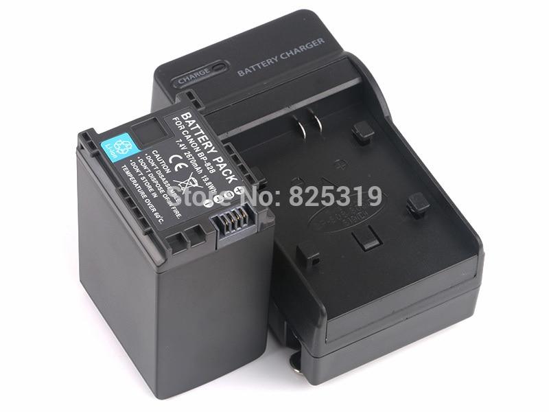 7.4 V 2670 mAh BP-828 rechargeable Batterie BP828 BP 828 Caméra batteries + chargeur pour Canon HF G30 HFG30 XA20 XA25 BP-820