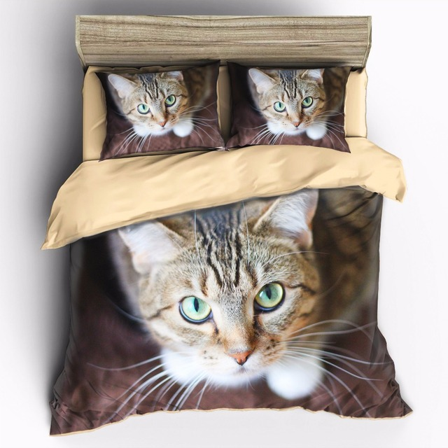 AHSNME Can be customized high-definition print Cute Cat bedding set King Quenn Full Double Twin Single Quilt cover set
