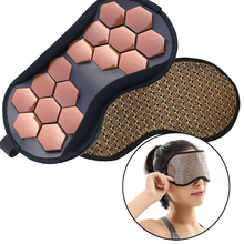 Tourmaline Therapy Sleep Eye Mask Germanium Anion Tourmaline Stone Anti Stress Face Relax Health Heating Massage Eye Patch 2018 best selling products infrared heating mat tourmaline health products full body heat sleep mat with free gift eye cover