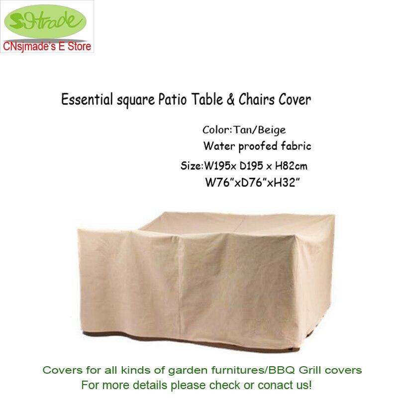 Основные площади патио стол и chaircover195x195x82cm, бежевый цвет, бежевый водонепроницаемым ткани, Бесплатная доставка