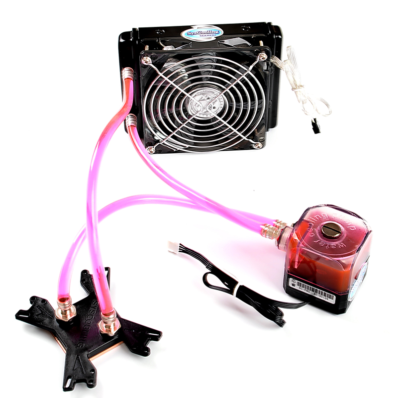 Syscooling DIY Water Cooling kits CPU Intel  AMD Xeon Copper & Aluminum radiator!!! gpu cpu fan water liquid cooling system mute copper aluminum cooler base graphics card water cooling radiator for intel amd