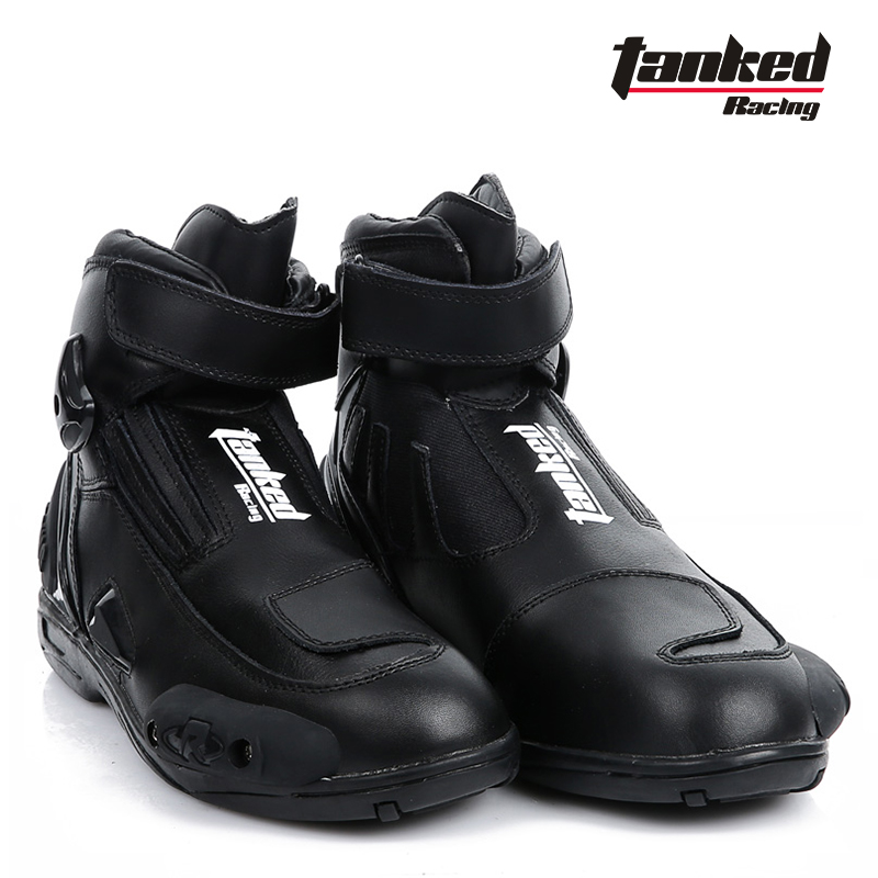 new product special section best shoes US $94.28 6% OFF|2017 New Tanked Raing leather Moto Racing boot  Professional Short Motorcycle boots shoes Anti dropping abrasion resistant  T75090-in ...