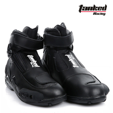 2017 New Tanked Raing leather-based Moto Racing boot Professional Short Motorcycle boots footwear Anti dropping abrasion resistant T75090