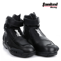 2017 New Tanked Raing leather Moto Racing boot Professional Short Motorcycle boots shoes Anti dropping abrasion resistant T75090