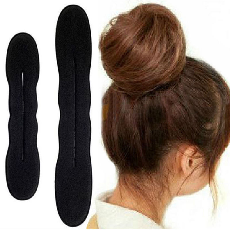 2x One Small New Women Hair Band Styling Magic Sponge Clip Former Foam Bun Curler Diy Hairstyle Twist Maker Tool In Accessories From