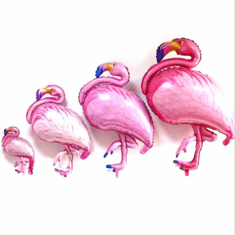 Baru Hawaii Flamingo Pesta Flamingo Foil Balon Helium Air Ballon untuk Selamat Ulang Tahun Dekorasi Pernikahan Perlengkapan Pesta Acara
