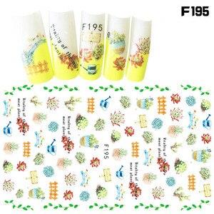 Image 5 - 1Pcs Fashion Patroon Ogen Nail Slider Art Stickers 3D Gemengde Kleur Ontwerp Nail Art Voor 3D Diy Decoraties Decal tips BEF166 573