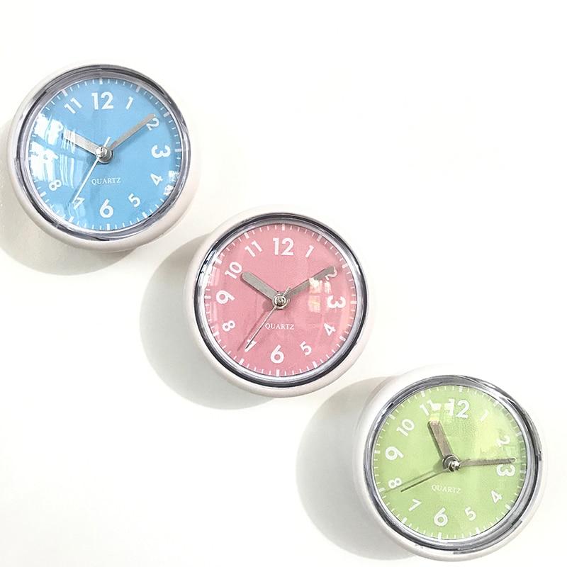 Bath Prevent Mist Waterproof Silent Clocks Shower Mini Wall Clocks
