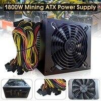 Hot Professional 1800W Mining ATX Power Supply SATA IDE For 6 GPU ETH BTC Ethereum