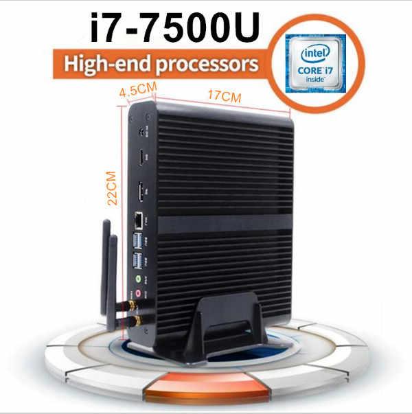 Core i7 7500u ddr3L eglobal Kaby Lake Mini PC Windows 10 computadora DDR4 Intel HD Graphics 620 Micro PC Mini PC 4K mini HTPC nettop