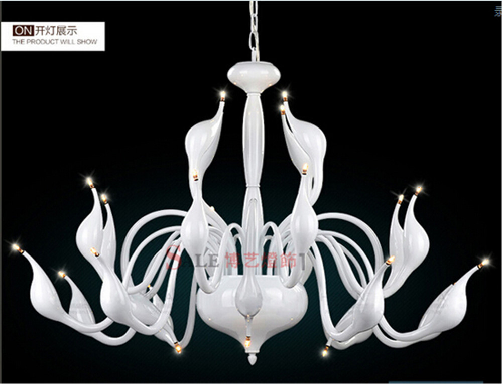 modern creative 9 mheads G4 swan shape pendent lights living room dining room art decor lamp N1147 postmodern minimalist fans glass art decor chandeliers g9 6 9 heads creative pendent lights living rooms dining room bedroom