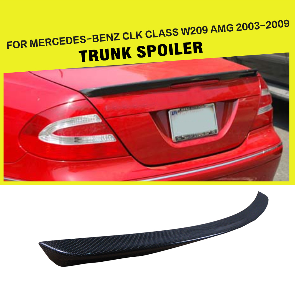 Car-Styling Carbon Fiber Rear Boot lip Trunk Wing <font><b>Spoiler</b></font> For Mercedes-Benz CLK Class <font><b>W209</b></font> AMG 2003-2009 image