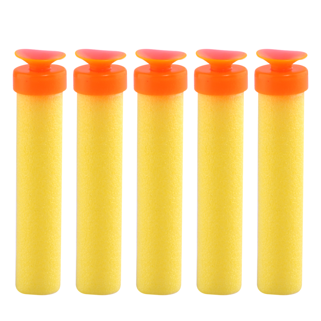 100pcs 7*1.1CM Big End Sucker for Target Practice - Orange + Yellow ...