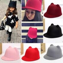 MOLIXINYU/новые детские шляпы «Fedora»; детская шапка с кроличьими ушками; летняя Шапка; Детские Солнцезащитные шапки для мальчиков и девочек; реквизит для фотосессии