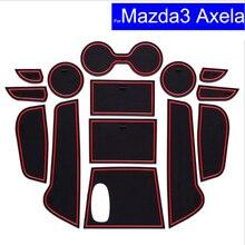 Нескользящие автомобильные межкомнатные двери ворота Слот коврики ковры положение подстаканник колодки для Mazda 3 Axela 2008 ~ 2015 2016 2017 двери паз коврик