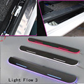 For Buick Opel Astra car light LED Moving front door scuff sticker Sill Plate pedal protector sticker styling welcome Wh