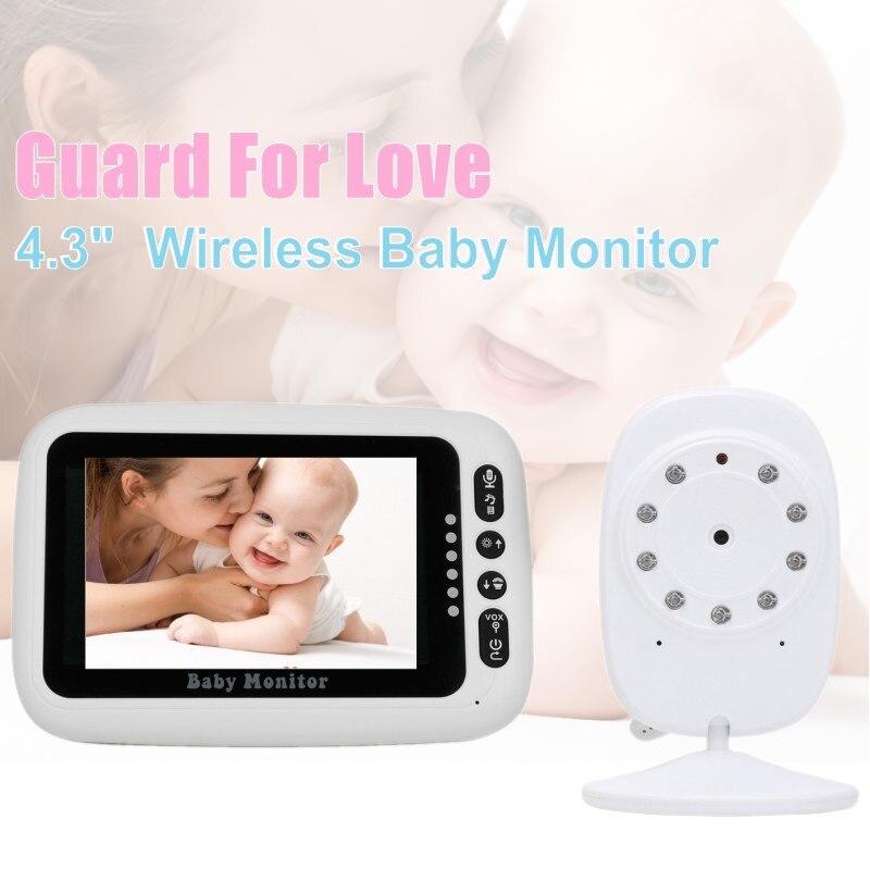 4.3 pouces affichage sans fil bébé caméra moniteur intelligent bébé moniteur vidéo caméra de sécurité 2 voies parler Vision nocturne bébé nounou caméra