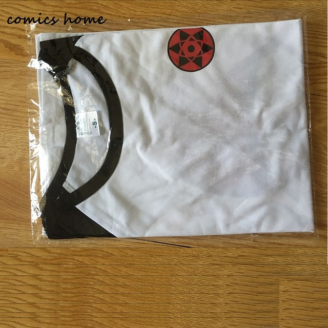 Sasuke T-Shirt Men Tee Anime Naruto Uchiha Family Logo Sharingan Eye Symbol Cosplay T Shirts Akatsuki Itachi Tshirt