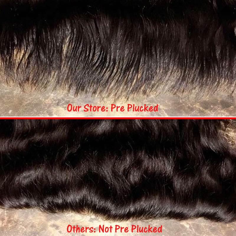 lace front with baby hair 360