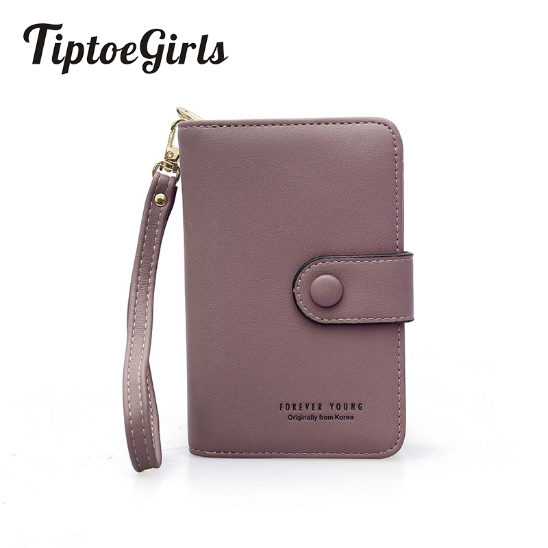 Female Zipper Wallet Long Section Retro Simplicity Small Fresh Multi-Function Multi-Card Bit Hasp Slim Wallet