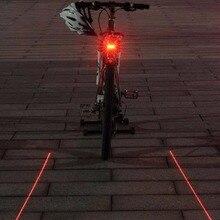 Контрольной вспышки сигнализации задний светодиодных фонарь лазерный световой огни велоспорт велосипед