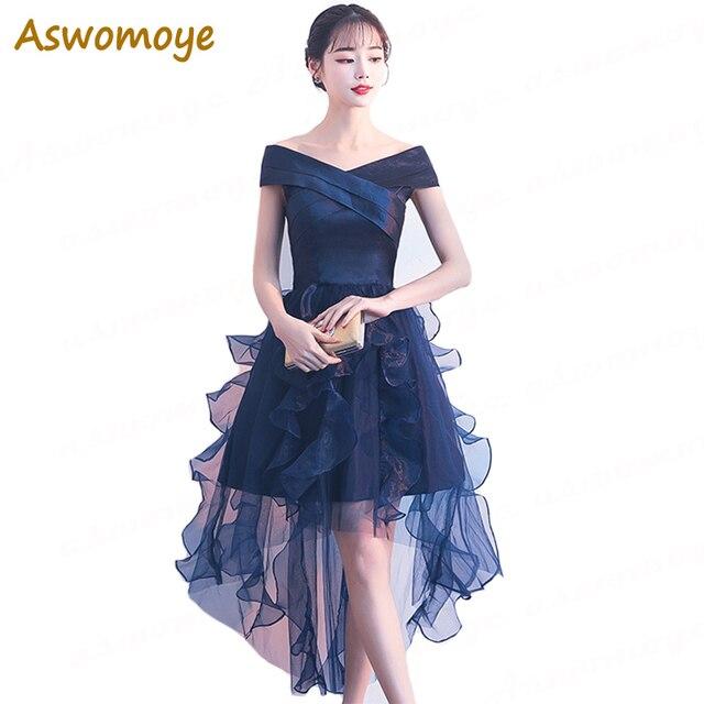 Aliexpress.com: Comprar Aswomoye elegante trasero largo delantero ...