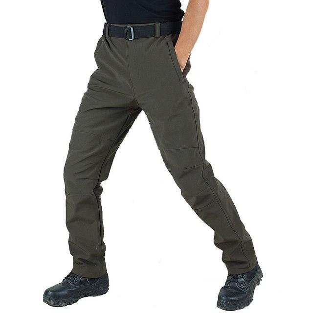 8253ded9246 Winter Tactical Pants Men Military Fleece Warm Cargo Pants Thick Pants Male  Casual Multi-pocket