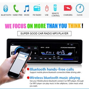 Image 4 - Camecho Bluetooth Autoradio Car Stereo Radio FM Aux Input Receiver SD USB JSD 520 12V In dash 1 din Car MP3 Multimedia Player