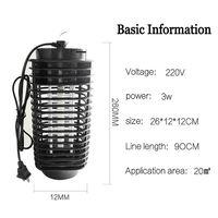 Eua/ue plug led mosquito matar lâmpada elétrica bug zapper anti mosquito luz inseto armadilha controle de pragas para casa quarto ao ar livre|Iluminação Novelty|   -