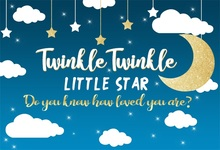 Laeacco Twinkle Stars Crescent Moon Clouds Baby Party Photography Backgrounds Customized Photographic Backdrops For Photo Studio