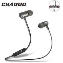 Fones de ouvido cbaooo sem fio, headset bluetooth, para música, esportes, som estéreo, grave, magnético, com microfone, para celular