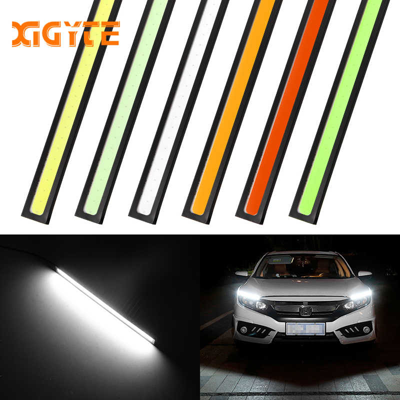 1Pcs 17CM LED COB DRL Daytime Running Lights Waterproof External Car Styling Car Parking Fog Bar Turn Signal Lamps Accessories