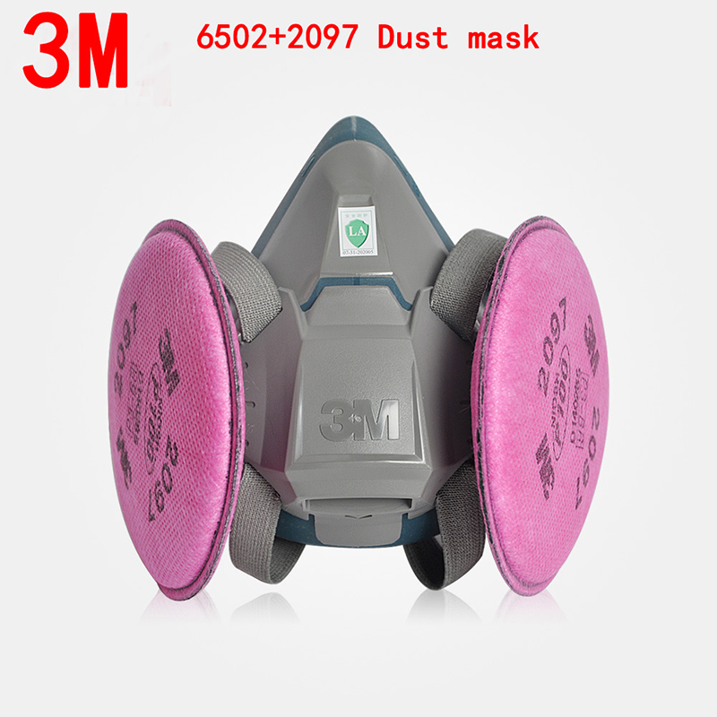 3M 6502/6503+2097 P100 respirator dust mask Genuine security 3M respirator mask against Organic gas Dust particles filter mask 3m 6300 6003 half facepiece reusable respirator organic mask acid face mask organic vapor acid gas respirator lt091