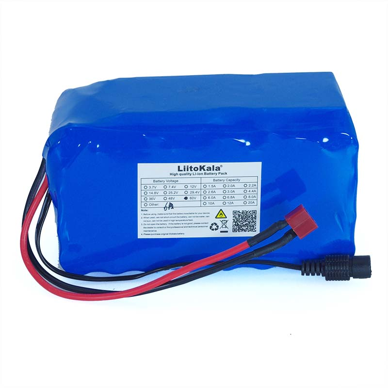 Image 2 - 60V 16S2P 6Ah 18650 Li ion Battery Pack 67.2V 6000mAh Ebike Electric bicycle Scooter with 20A discharge BMS 1000Watt-in Battery Packs from Consumer Electronics