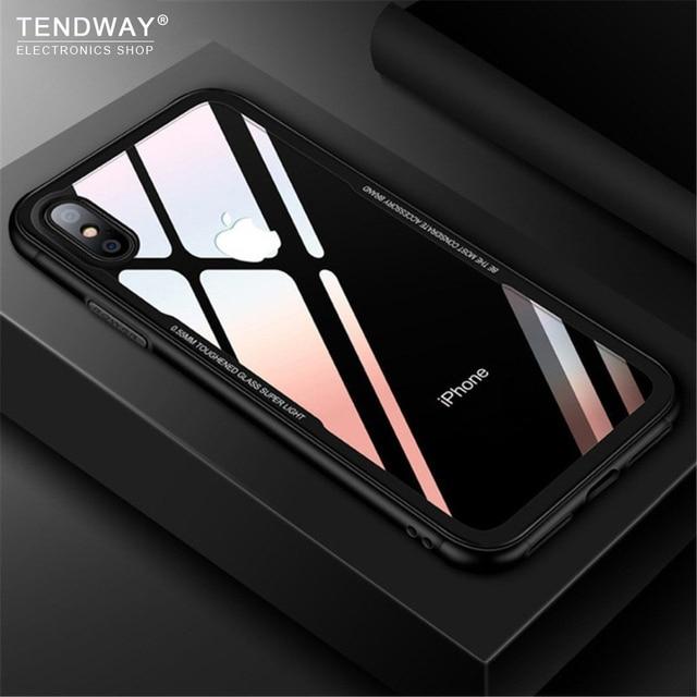 Etui na telefon Tendway na iphone 78X etui ze szkła hartowanego przezroczyste etui na iphone 5 6 akcesoria