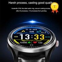 Reloj inteligente ecg con pantalla táctil para hombre y mujer, pulsera deportiva con control del ritmo cardíaco y de la presión sanguínea