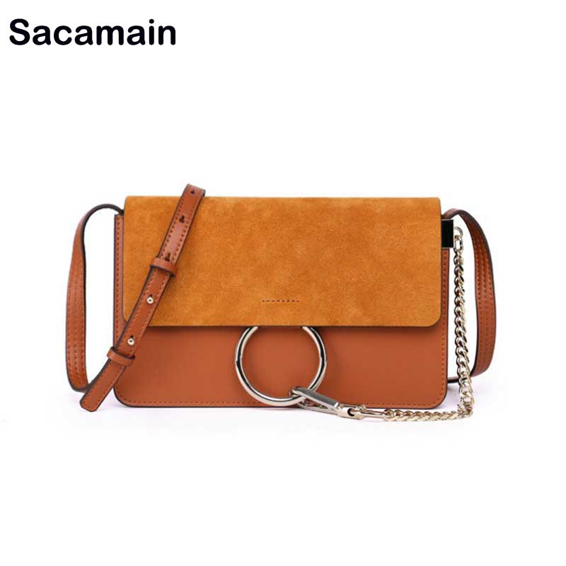 Brand Designer Women Suede Leather Shoulder Bags Crossbody Bag For Women Shoulder Purse And Handbags Round Shape Bolsas Feminina