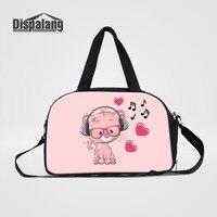 New Fashion Womens Travel Duffle Bags Owl Fox Pig Bear Donald Duck Animal Printing Luggage Female Maletas De Viaje Sac De Voyage